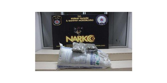 Meriç Nehri üzerinden getirilen 14 kilo uyuşturucu ele geçirildi
