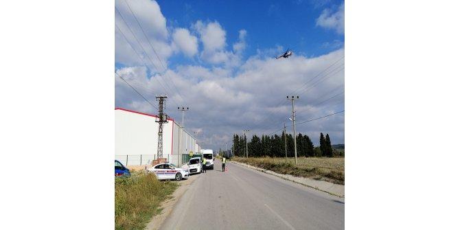 Çankakkale'de helikopterli denetimde sürücülere ceza