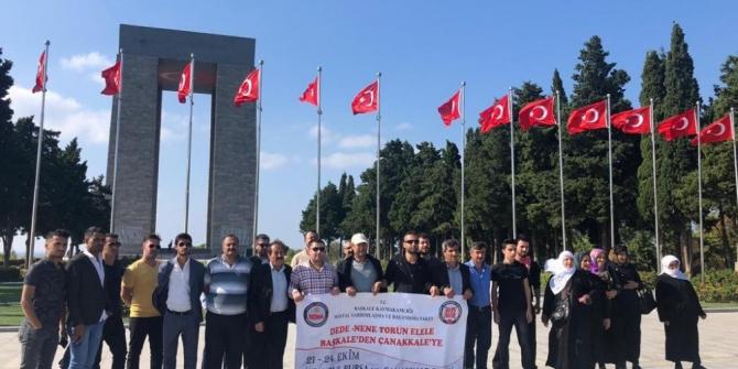 """""""Dede-Nene Torun El Ele Başkale'den Çanakkale'ye"""" gezisi"""