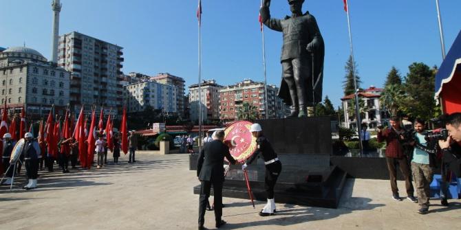 Rize'de 29 Ekim Cumhuriyet Bayramı kutlamaları