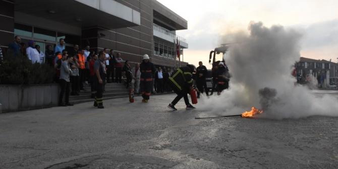 Yangın güvenliği tatbikatı yapıldı