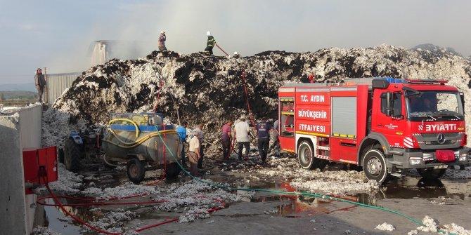 Aydın'da 2 bin ton pamuk yandı