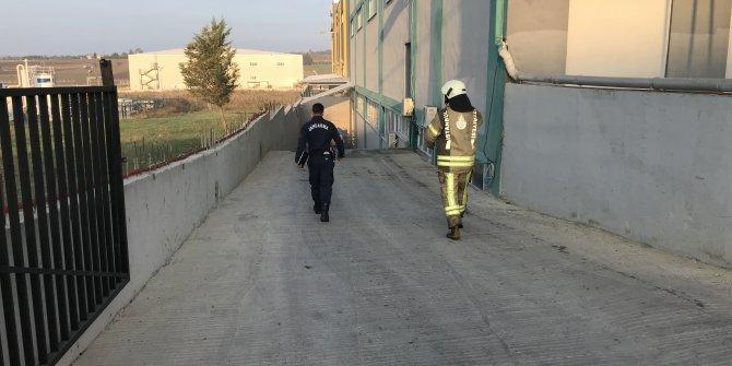 Silivri'de sünger fabrikasında yangın