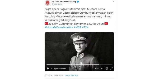MSB'den Cumhuriyet Bayramı videosu