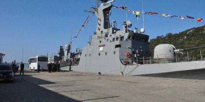 Bartın'da savaş gemisi halkın ziyaretine açıldı