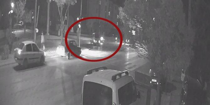 Motosiklet sürücüsü İbrahim'in öldüğü kaza kamerada