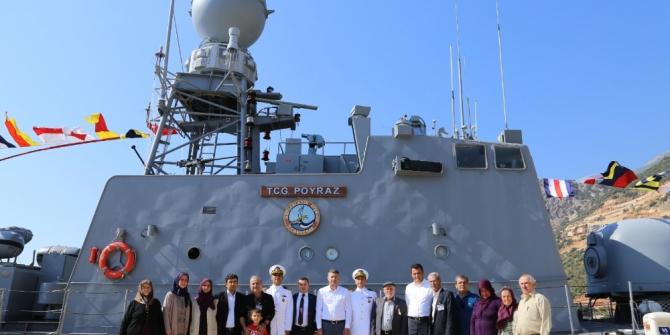 TCG Poyraz, Kaş'ta Ziyarete Açıldı