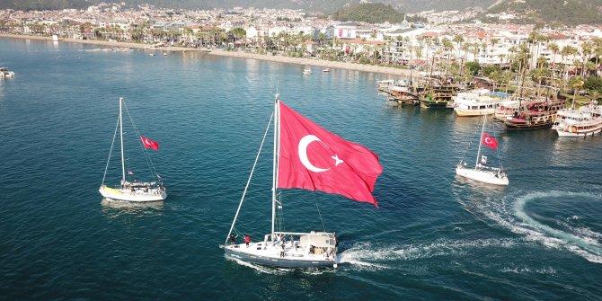 Marmaris'te yelkenler 30'uncu kez denize açıldı