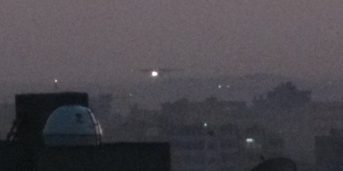 Kamışlı'da Rus uçağı hareketliliği gece de sürdü (2)