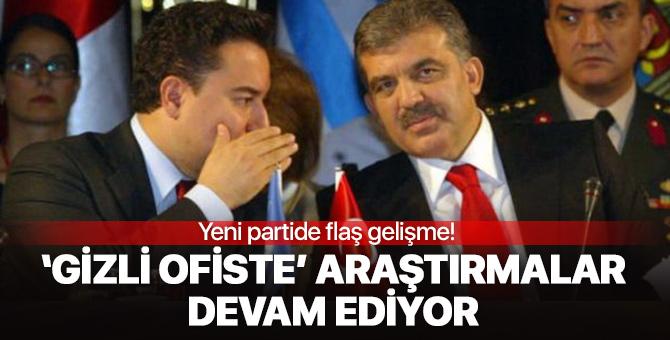 Davutoğlu-Babacan-Gül partisinde yeni gelişme! Gizli ofiste süreç yönetimi...
