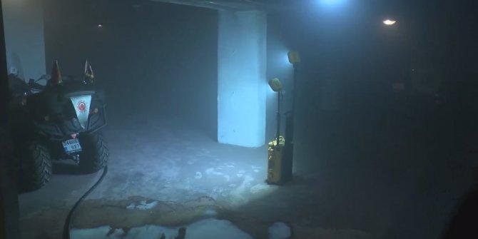 Garajdaki otomobil yandı: Binada mahsur kalan 4 kişi son anda kurtarıldı