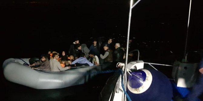 Didim'de 3 ayrı lastik botta 111 kaçak göçmen yakalandı