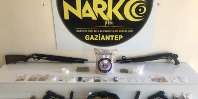 Gaziantep'te film gibi uyuşturucu operasyonu