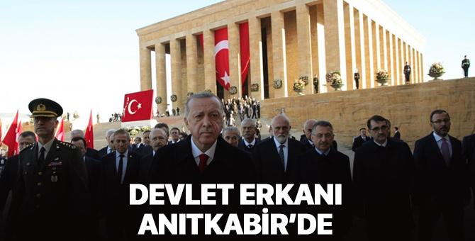 Devlet erkanı Anıtkabir'de! Atatürk, Anıtkabir'de anıldı