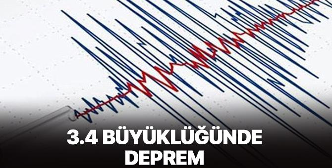 3.4 büyüklüğünde deprem!
