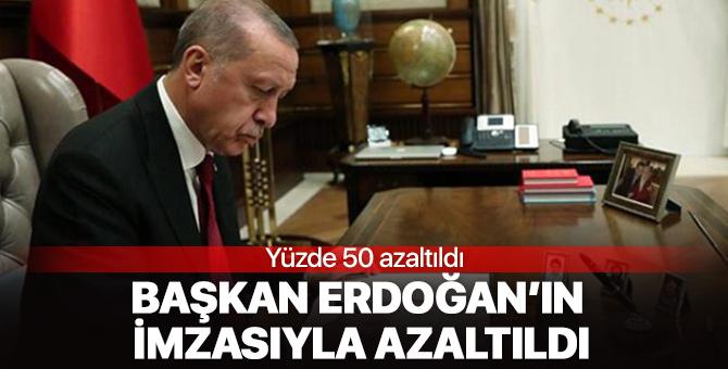 Başkan Erdoğan'ın imzası ile ihracat limiti yüzde 50 azaltıldı