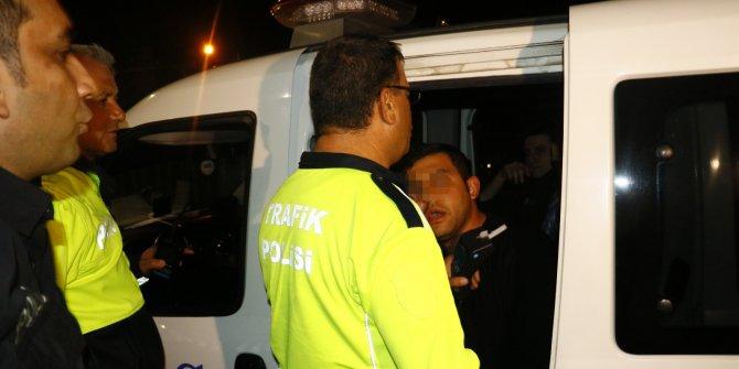 'Dur' ihtarına uymayan alkollü sürücü kovalamacayla yakalandı