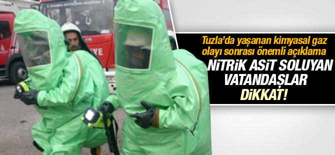 Tuzla'da Nitrik Asit Soluyan Vatandaşlar Dikkat!