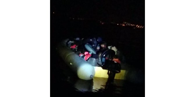 Bodrum'da 105 kaçak göçmen yakalandı