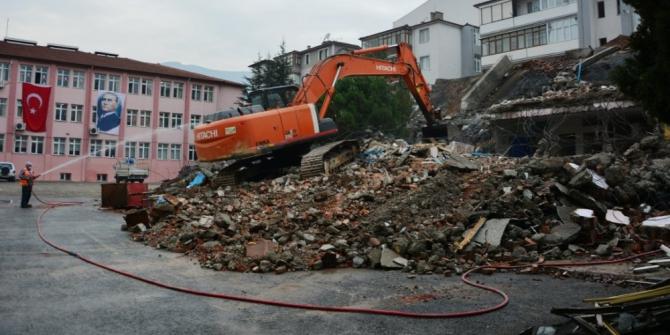 Karabük'te okul inşaat çalışmaları
