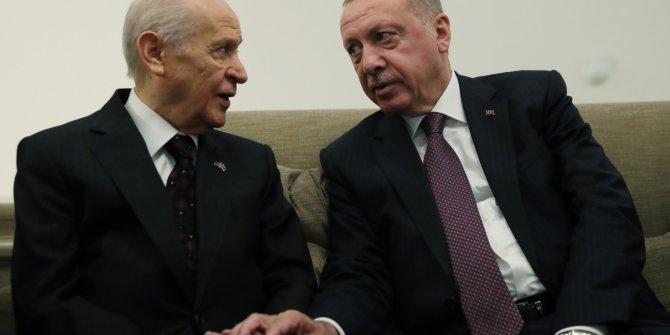 Erdoğan, Meclis'te Bahçeli ile görüştü