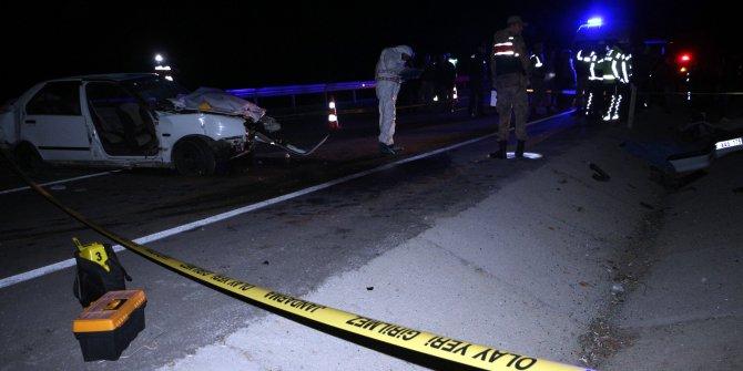 Tokat'da otomobil bariyere çarptı: 1 ölü, 3 yaralı