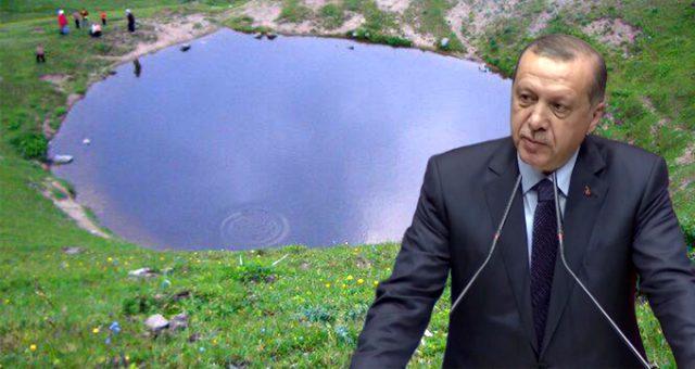Dipsiz Göl'ün kurutulmasına Başkan Erdoğan da tepkisiz kalamadı!