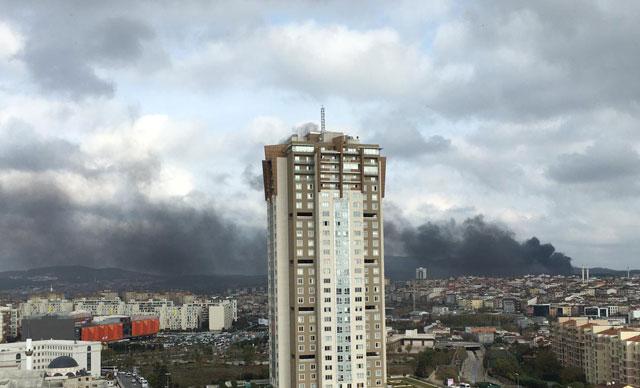 Çekmeköy'deki askeri alanda yangın