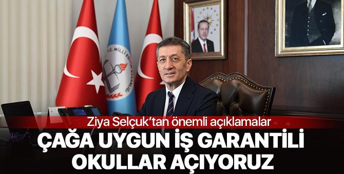 """Milli Eğitim Bakanından önemli açıklama: """" İş garantili okullar açıyoruz"""""""