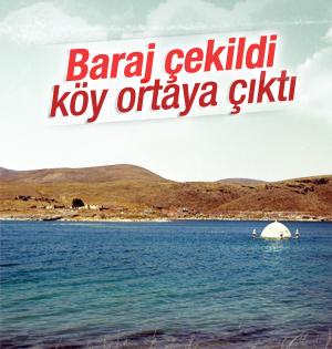 Kayseri'de çekilen barajın altından köy çıktı