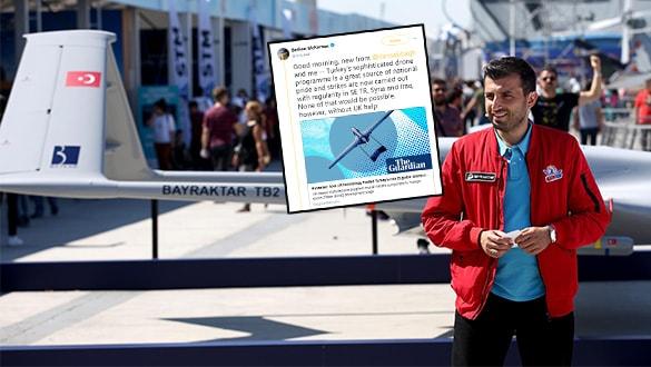 Baykar Teknik Müdürü Selçuk Bayraktar, İngiliz gazeteciye ağzının payını verdi!
