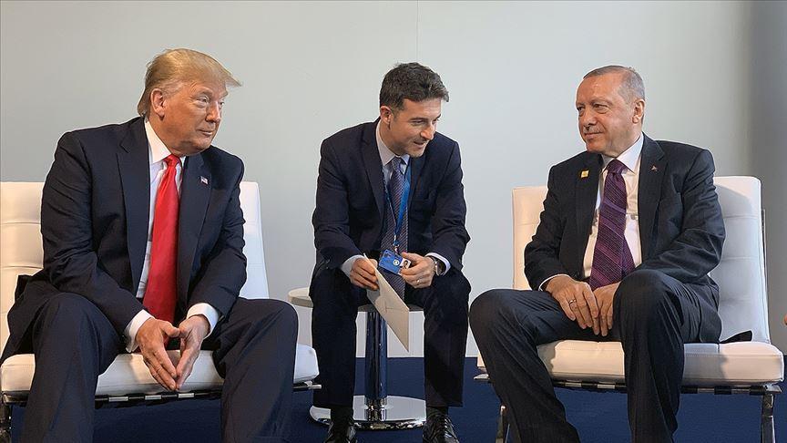 Cumhurbaşkanı Erdoğan, Trump ile bir araya geldi