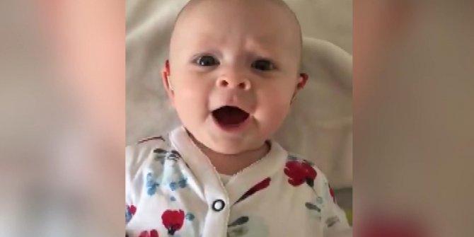 İşitme engelli bebek, özel cihaz sayesinde ilk kez annesinin sesini duydu