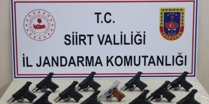 Siirt'te silah kaçakçılarına darbe