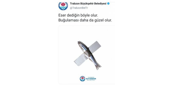 Trabzon Büyükşehir Belediyesi'nden hamsili 'eser' paylaşımı