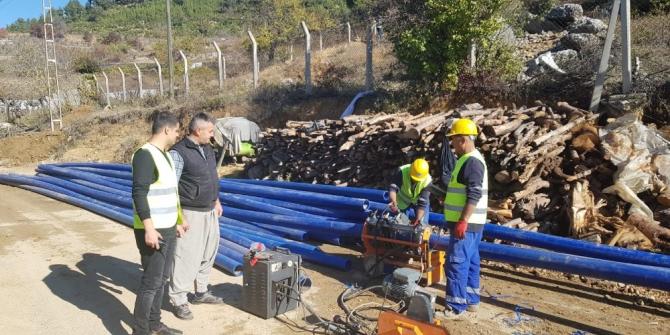MESKİ, Çamlıyayla'da sorun oluşturan içme suyu hattını yeniledi