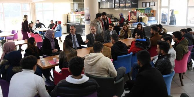 Başkan Taban üniversite öğrencilerinin taleplerini dinledi