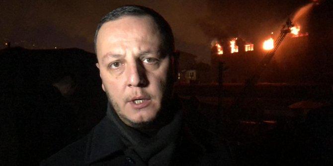 Mobilya atölyesindeki yangın evlerin çatısına sıçradı (2)