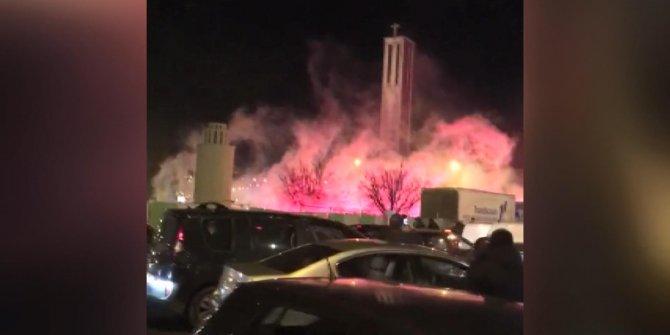 Paris'te Galatasaray taraftarlarına meşaleli saldırı
