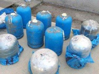 Boş araziye saklanmış 250 Kilo Patlayıcı Ele Geçirildi