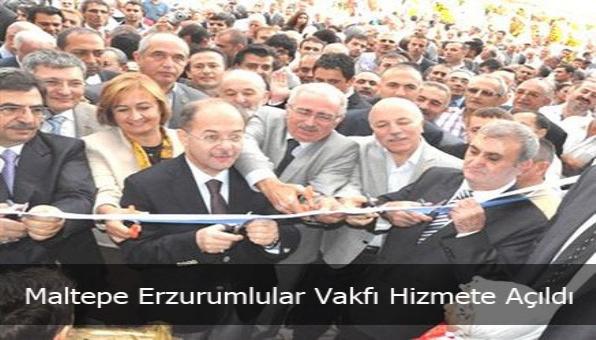 Maltepe Erzurumlular Vakfı Hizmete Açıldı