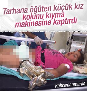 Küçük kız kolunu kıyma makinesine kaptırdı