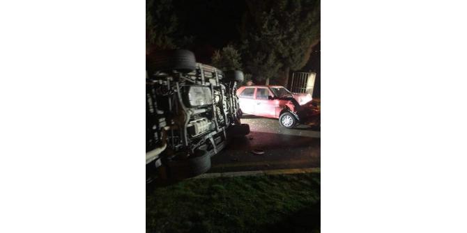 AK Partili yöneticiler trafik kazası geçirdi