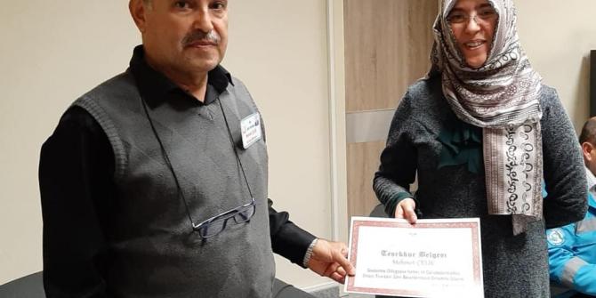 Devlet Hastanesinde 25 yıldır görev yapan personellere teşekkür belgeleri verildi