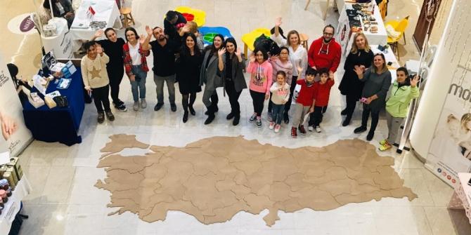 Özel çocuklar için Türkiye haritası oluşturdular