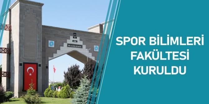Niğde'ye Spor Bilimleri Fakültesi kuruldu