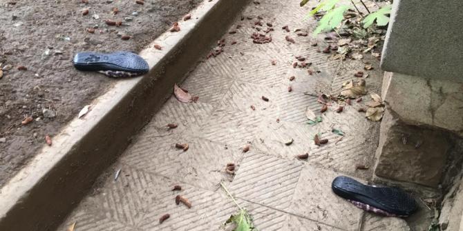 Temizlik işçisi kadın cam silerken 3. kattan aşağı düştü