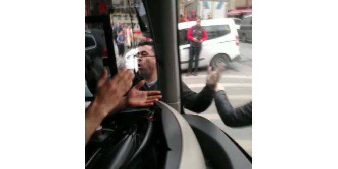 İETT otobüsünden korku dolu anlar