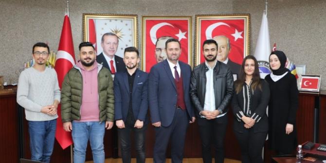 Öğrencilerinden Başkan Yanmaz'a ziyaret