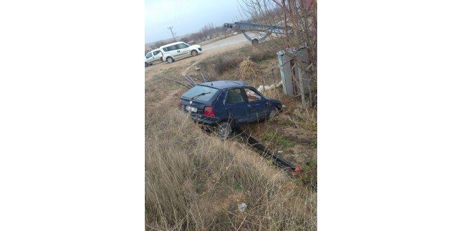 Kırıkkale'de otomobil şarampole devrildi: 1 ölü, 2 yaralı
